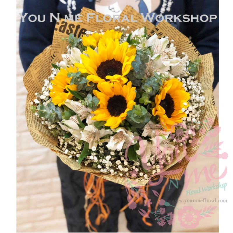 sunflowers bouquet hk